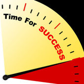 Time For Success Message Representing Victory And Winning — Stock Photo