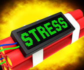 Stress On Dynamite Shows Pressure Of Work — Stock Photo