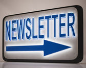Newsletter Sign Showing News Mails — Stock Photo