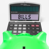 Bills Calculator Shows Invoices Payable And Accounting — Stock Photo