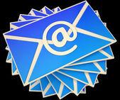 Umschlag zeigt e-mail online informationen kommunizieren — Stockfoto