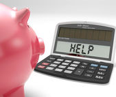 Help Calculator Shows Borrow Savings And Budgeting — Zdjęcie stockowe