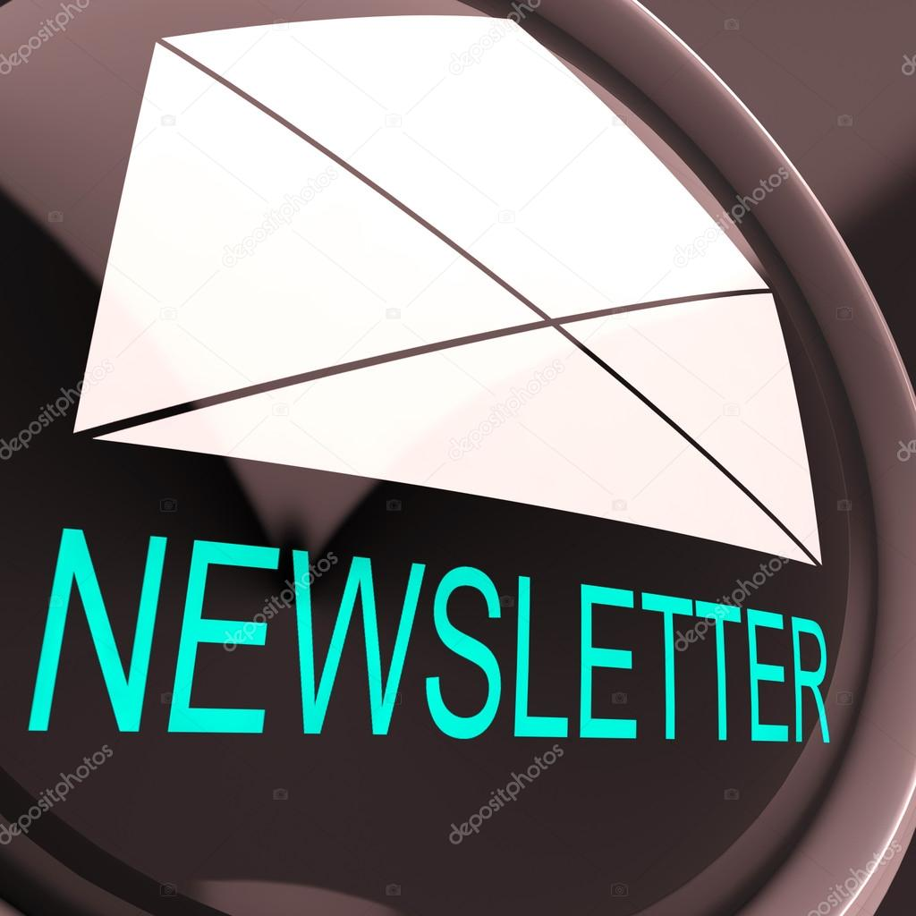 E-mail Newsletter Showing Letter Mailed Electronically Worldwide — Stock Photo #21246375