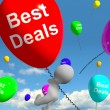 Best Deals Balloons Represents Bargains Or Discounts - Stock Photo