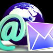 World Email Shows Global Correspondence Post Online — Stok Fotoğraf #21843083