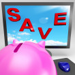 Save On Monitor Shows Big Promotions - Foto de Stock  