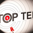 Stock Photo: Top Ten Target Shows Special Rated Companies