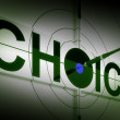 Stock Photo: Choice Means Choose Option Or Alternative