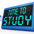 Time To Study Message Showing Education And Studying — Stock Photo