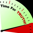 Time For Truth Message Means Honest And True — Stock Photo #21843807