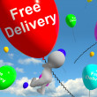 Stock Photo: Free Delivery Balloons Showing No Charge Or Gratis To Deliver