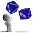 Chance Win Lose Dice Showing Betting — Stock Photo