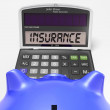 Insurance Calculator Shows Protection Through Secure Policy — Stock Photo