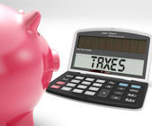 Taxes On Calculator Shows Income Tax Return — Stock Photo