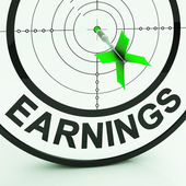 Earnings Shows Money From Employment Profit Income — Stock Photo