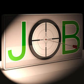 Job Target Shows Work And Career Vocation — Stock Photo