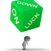 Down On Luck Dice Means Failure And Losing — Stock Photo