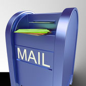 Mail On Mailbox Showing Delivered Correspondence — Stock Photo