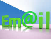 E-mail Letters Shows Emailing Correspondence Or Contacting — Stock Photo