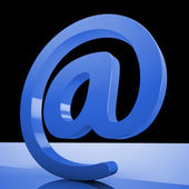 At Sign Mean Email Correspondence on Web — Stock Photo
