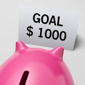 One Thousand dollars, usd Goal Showing Ambition — Stock Photo