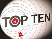Top Ten Target Shows Special Rated Companies — Stock Photo