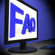 FAQ On Monitor Showing Assistance - Stock Photo