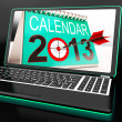 Stock Photo: Calendar 2013 On Laptop Shows Online Predictions
