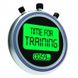Time For Training Message Shows Coaching And Instructing — Stock Photo #21852155