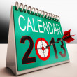 2013 Calendar Shows Future Target Plan — Stock Photo