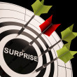 Surprise On Dartboard Shows Aimed Astonishment — Stock Photo