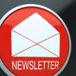 E-mail Newsletter Shows Email Letter Communication — Zdjęcie stockowe #21852269