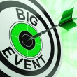 图库照片: Big Event Target Shows Upcoming Occasion