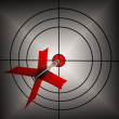 Stock Photo: Arrow Aiming On Dartboard Shows Aiming Accuracy