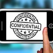 Confidential On Smartphone Shows Classified Information - Foto de Stock