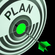 Stock Photo: PlTarget Means Planning, Missions And Objectives