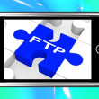 FTP On Smartphone Showing Data Transmission — Stock Photo