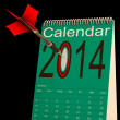 2014 Calendar Shows Business Schedule And Plan - Stock Photo