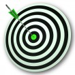 Stock Photo: Bulls eye Target Shows Perfect Accuracy And Focus