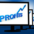 Stock Photo: Profits On Monitors Showing Profitable Incomes