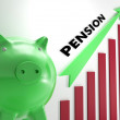 Stock Photo: Raising Pension Chart Shows Personal Growth