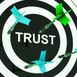 Trust On Dartboard Showing Mistrust - Stock Photo