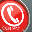 Stock Photo: Contact Us Button Shows Helpdesk