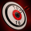 Top Ten Target Shows Best In Charts — Stock Photo