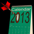 2013 Schedule Calendar Shows Future Business Targets — Stock Photo