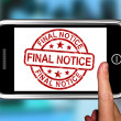 Final Notice On Smartphone Shows Overdue — Stock Photo