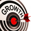Growth Shows Maturity, Growth And Improvement — Stock Photo