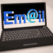 Email At Laptop Showing Inbox — Stock Photo