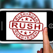 Stock Photo: Rush On Smartphone Showing Speed
