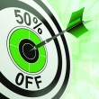 50 Percent Off Shows Discount Promotion Advertisement — Stock Photo #21852861